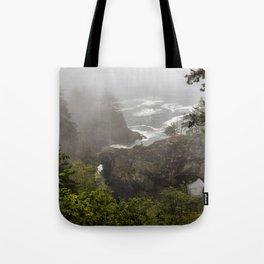 Fog Over Natural Bridges Tote Bag