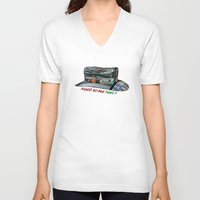 pocket fuel V-neck T-shirts featuring Need Some Fuel ? by Avigur