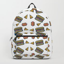 fast food white Backpack