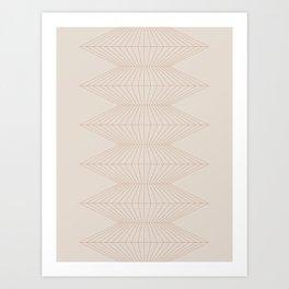 Abstract Geometric Lines XI Art Print