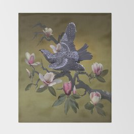 The Shangyang Rainbird Throw Blanket