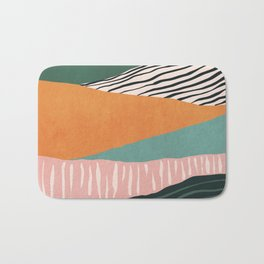 Modern irregular Stripes 02 Bath Mat