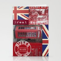 british flag Stationery Cards featuring Very British by LebensART