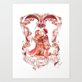 All's Well That Ends Well - Kiss - Shakespeare Illustration Art Print