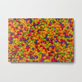 Sour Candy Buttons. Real Candy Pattern Metal Print