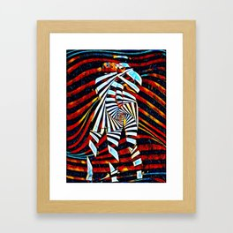 6805-LB Two Become as One Love Energy Abstraction Framed Art Print