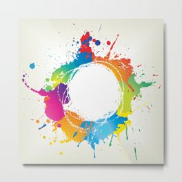 Abstract grunge background with paint splats Metal Print