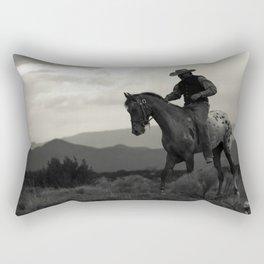 Santa Fe Cowboy on Horse Rectangular Pillow