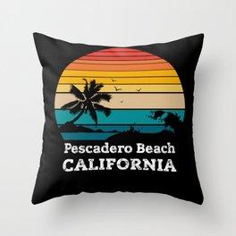 Pescadero State Beach CALIFORNIA Throw Pillow