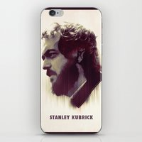 stanley kubrick iPhone & iPod Skins featuring Stanley Kubrick by Mahdi Chowdhury
