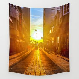 sunset street Wall Tapestry