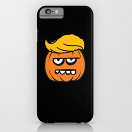 Trump Hair Pumpkin Halloween Costume Cute iPhone Case