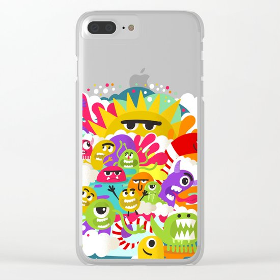 Monster Sunshine Friends Clear iPhone Case