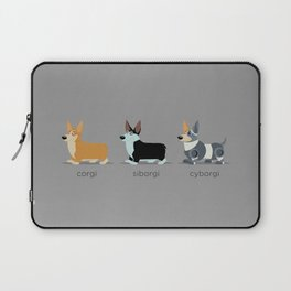 corgi, siborgi, and cybogi Laptop Sleeve