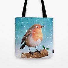 robin and holly Tote Bag