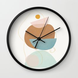 Soft Abstract Shapes 12 Wall Clock