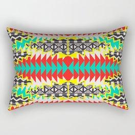 Tribal Beat Geo Neon Rectangular Pillow