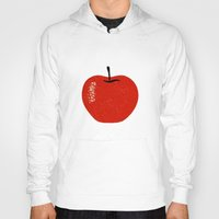 apple Hoodies featuring Apple by Roland Lefox