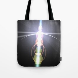 close to the moon lens flare Tote Bag