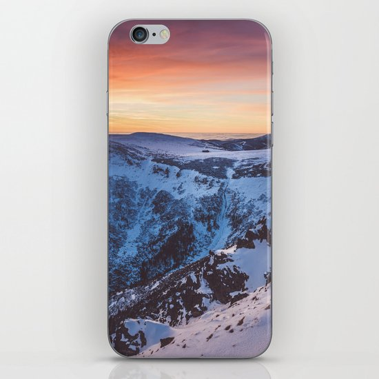 Sunset over the mountains iPhone & iPod Skin
