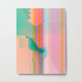 09-10-87 (rainbow painting glitch 008) Metal Print