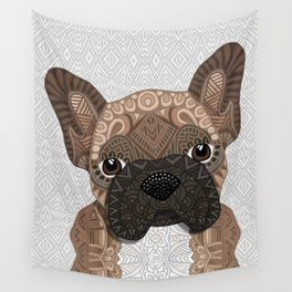 Brown Frenchie Puppy 001 Wall Tapestry