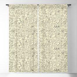 Physics Equations // Parchment Blackout Curtain