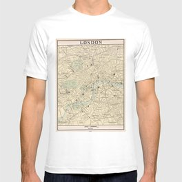 Vintage Map of London England (1901) T-shirt
