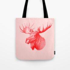 Moose red Tote Bag