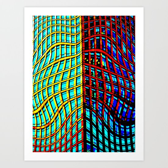 Collapsing Skyscraper Art Print