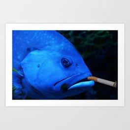 peix fumador Art Print