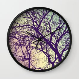 A Network of Tree Branches Wall Clock