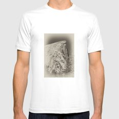 Yosemite Half Domes Backside Re-imagined Mens Fitted Tee White MEDIUM