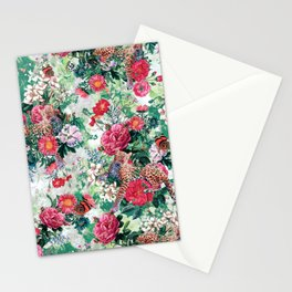 Leopards and Flowers Stationery Cards