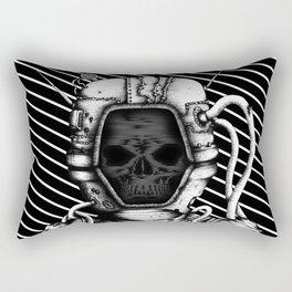 Skelenaut V3 (Black & White) Rectangular Pillow