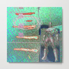 Potted Meat Man Goes Bonkers Metal Print