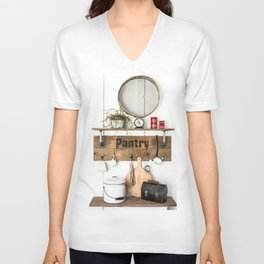 Pantry Shelf - tall Unisex V-Neck