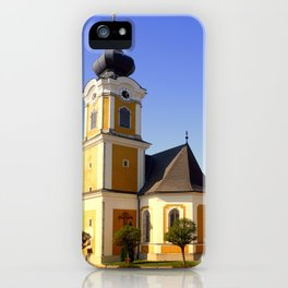 The village church of Sankt Johann am Wimberg | architectural photography iPhone Case