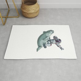 I Need More Space Astronaut Sea Lion Outserspace Science Geek Rug