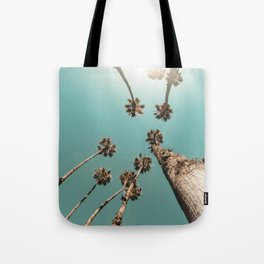 {1 of 2} Palm Trees = Happy // Teal Summer Sky Tote Bag
