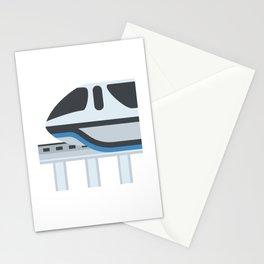 Monorail Train Emoji Stationery Cards