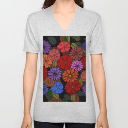 Flower Power #4 Unisex V-Neck