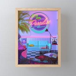 Paradise Wave Framed Mini Art Print