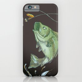 Bass Jumping At Night iPhone Case