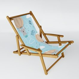 Born to fly bunny pattern Sling Chair