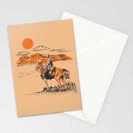 Old Western Cowboy Stationery Cards