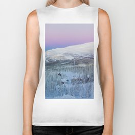 The Snow Mountains (Color) Biker Tank