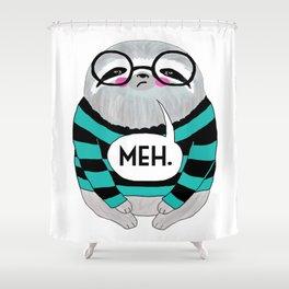 whistleburg - Meh Sloth Shower Curtain
