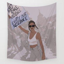 Emily Rata Feminist Fashion Illustration || Fashion Illustration Wall Tapestry