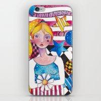 patriotic iPhone & iPod Skins featuring Patriotic Girl by Judy Skowron